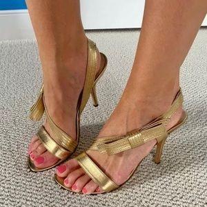 Kate Spade ♠️Gold Bow Heels